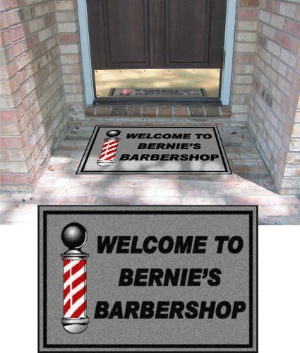 Personalized Doormats- 2 X 3 - Barber Shop - Write Your Own Mat . $58 ...