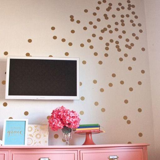 Polka Dot Vinyl Wall Decals  create  Pinterest