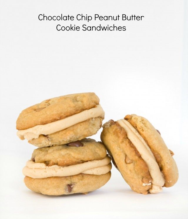 Chocolate Chip – Peanut Butter Cookie Sandwiches