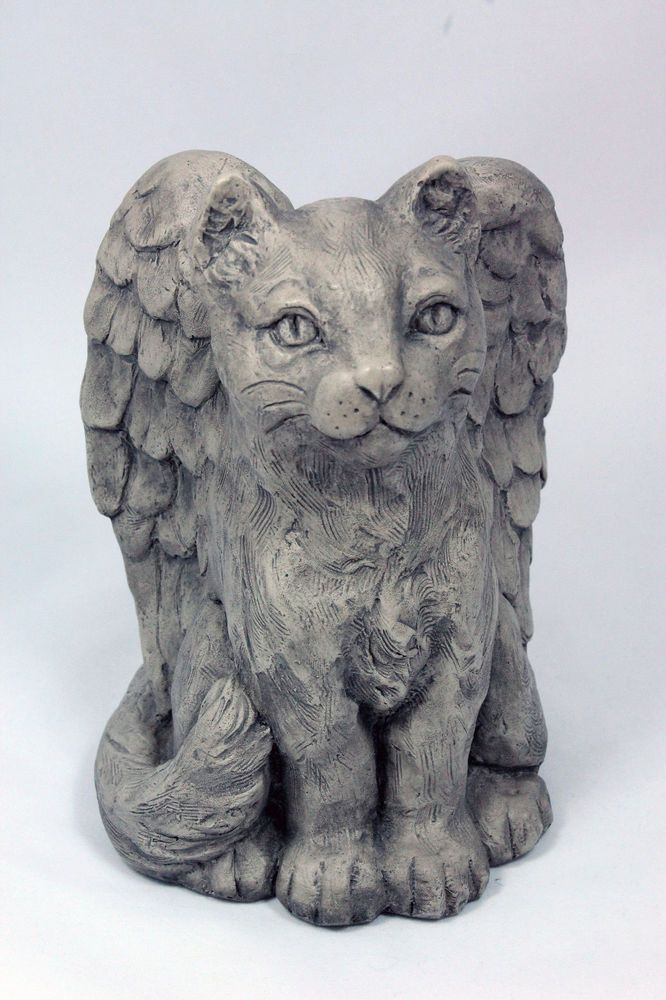 Cat With Angel Wings Statue