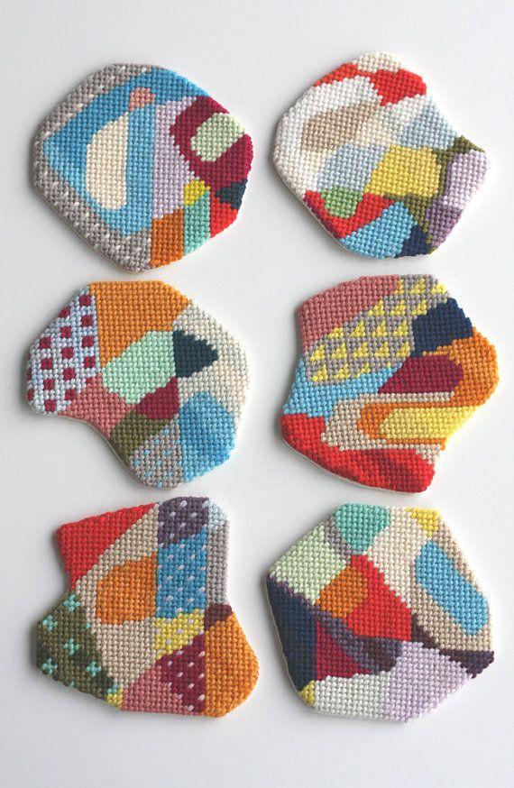 needlepoint coasters