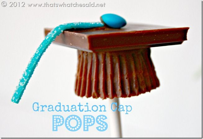 Graduation Cap Candy Pops. Red licorice strings. Use dark chocolate ...