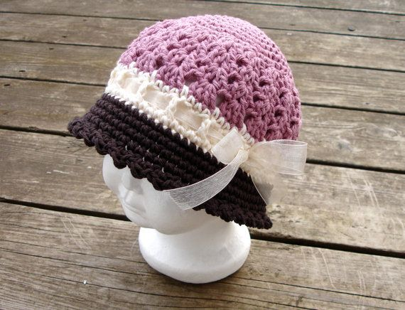 Crochet Pattern for Katrina Cloche Hat - 5 sizes, baby to ...