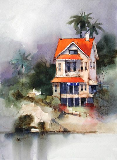 Watercolor Demonstration | Watercolor | Pinterest