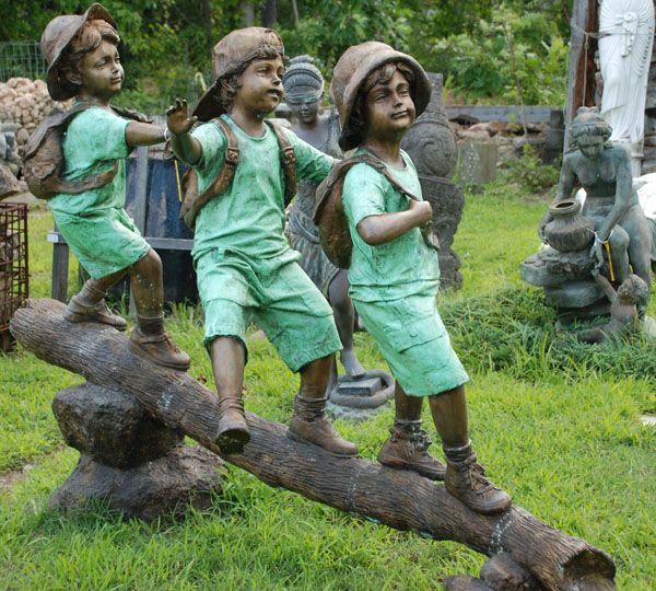 Bronze Children Garden Statue Williamsburg Pinterest