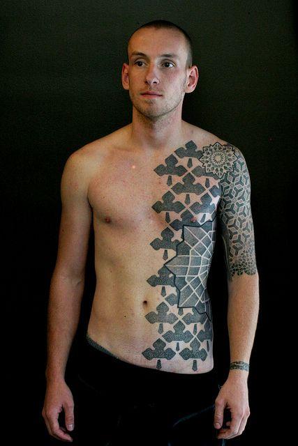 Half Torso Tattoo