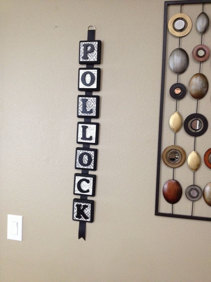 Diy Wall Art Name : Family name plaques diy crafts