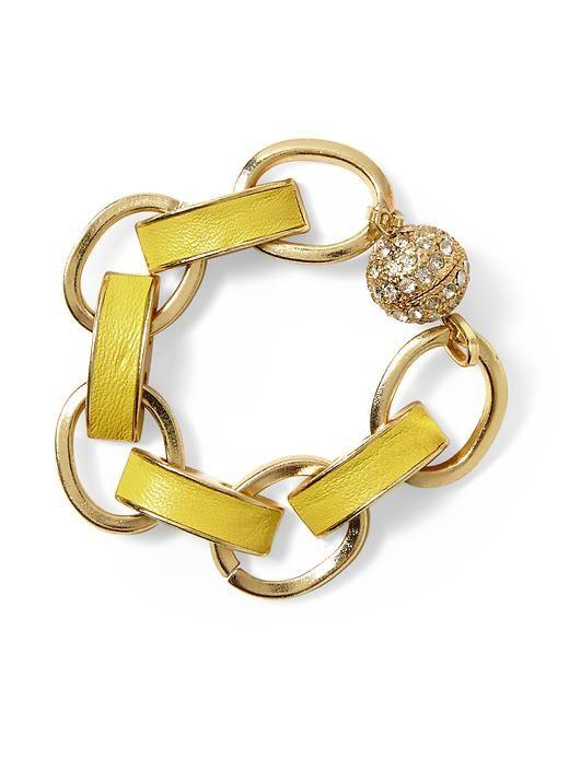 Pim + Larkin Yellow Link Bracelet - Yellow/gold