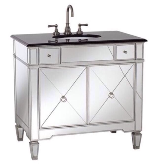top mirrored bathroom 34 inch h single sink vanity new free ship