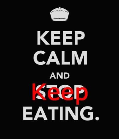 Keep calm and keep eating :) #antithinspo #thinspo