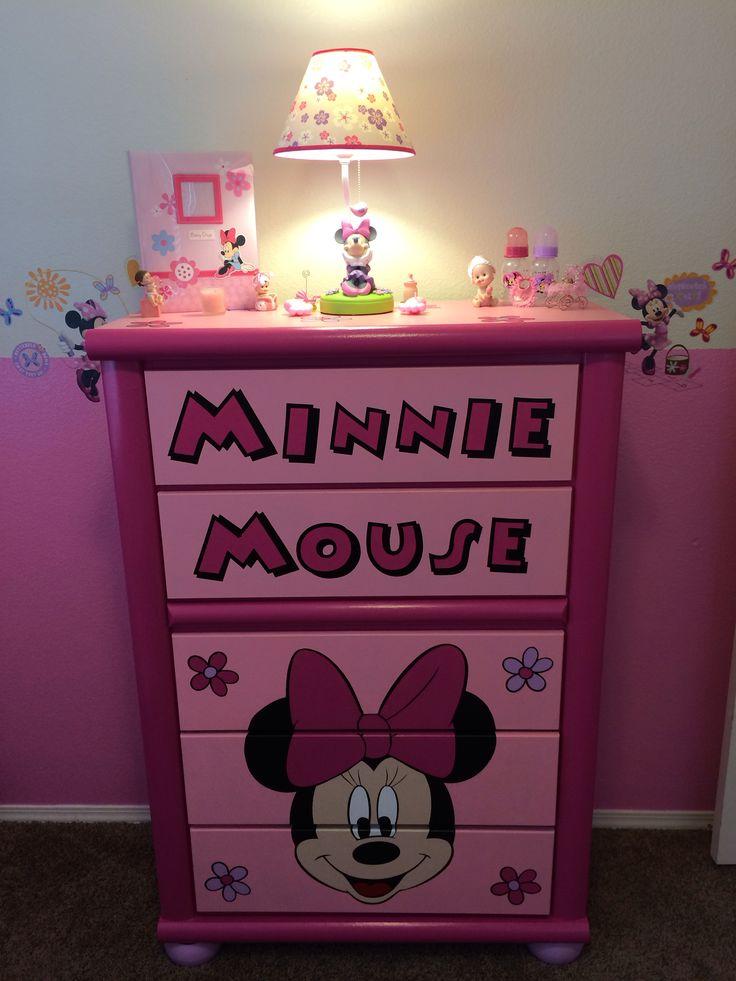 Custom Minnie Dresser Accessories Minnie Mouse Nursery Pinterest Accessories And Dressers