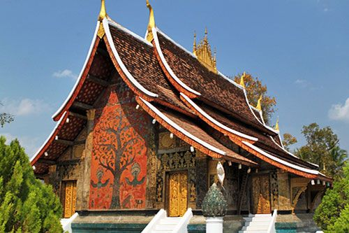 Mặt sau của Wat Xieng Thoong