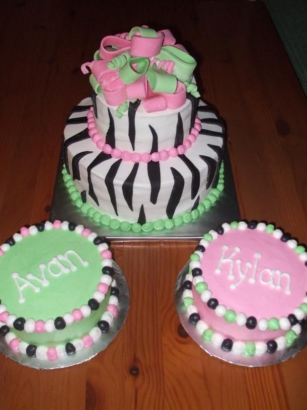 Cake Ideas For Twins First Birthday : Twins first birthday cake idea! Birthday s Pinterest