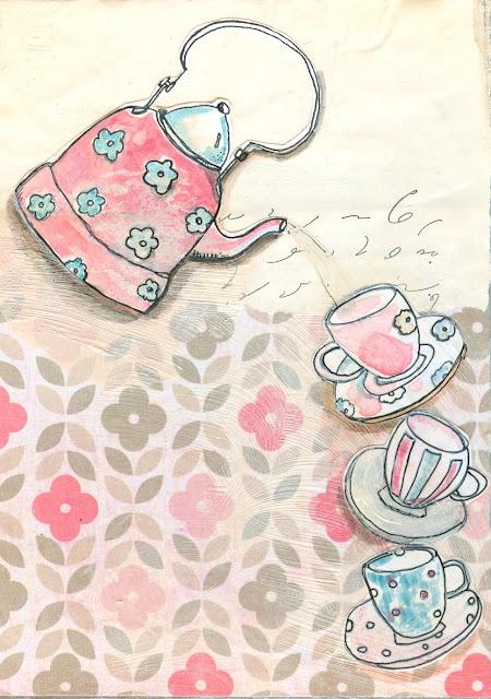 Tea pot vintage clipart | Etsy