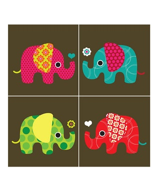 Cute elephant prints