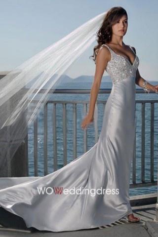 Satin Beach Wedding Dress - Shop Online for Cheap Wedding Dresses