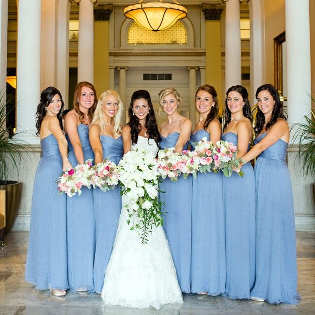 Pale Blue Bridesmaids Dresses : Light blue bridesmaids dresses casamento