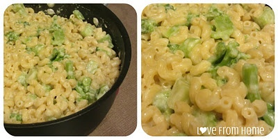 Broccoli and White Cheddar Mac & Cheese | Love From Home | Pinterest