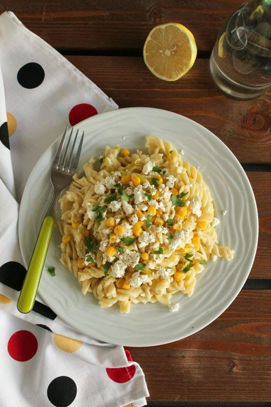 Peppers, corn and feta pasta | Food | Pinterest