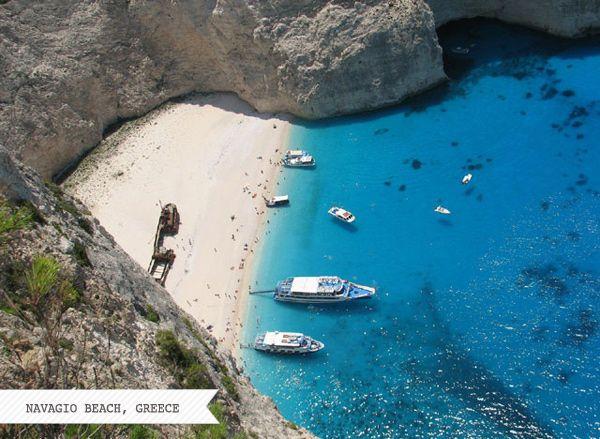 Navigio Beach, Greece.