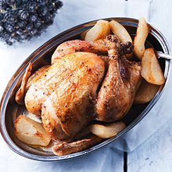 Baked chicken with pears | Chicken Dishes | Pinterest