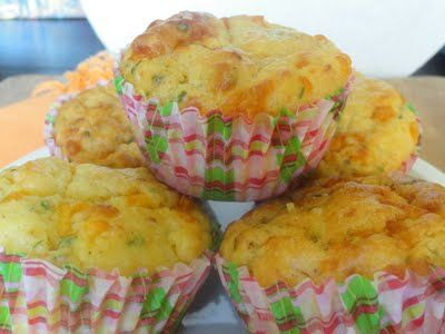 Bacon Cheese & Chive Breakfast Muffins ♥ Angie's BIG Love of Food