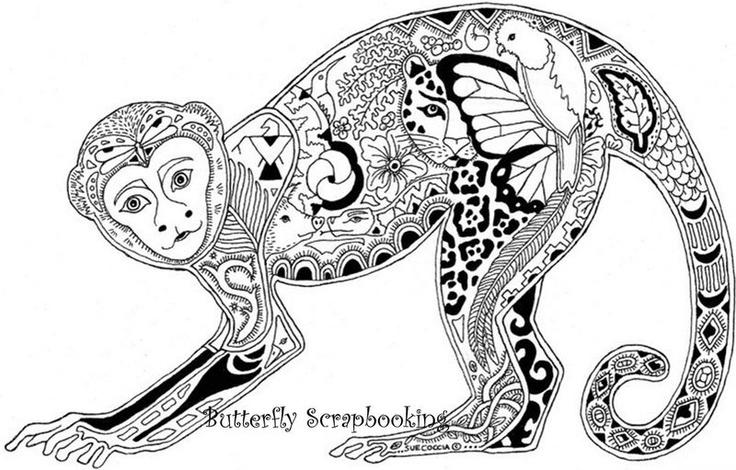 Line Art Monkey : Monkey line art doodle pinterest