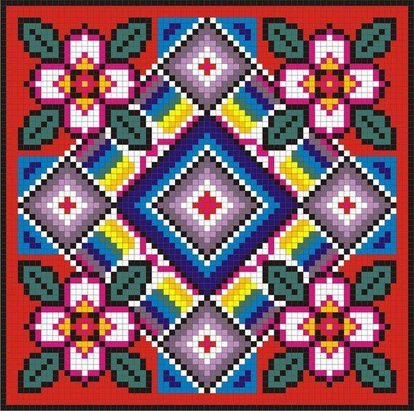 Вышивка крестом на подушках схемы 98