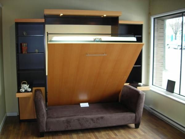 Modern murphy bed with couch murphy beds pinterest Modern murphy bed