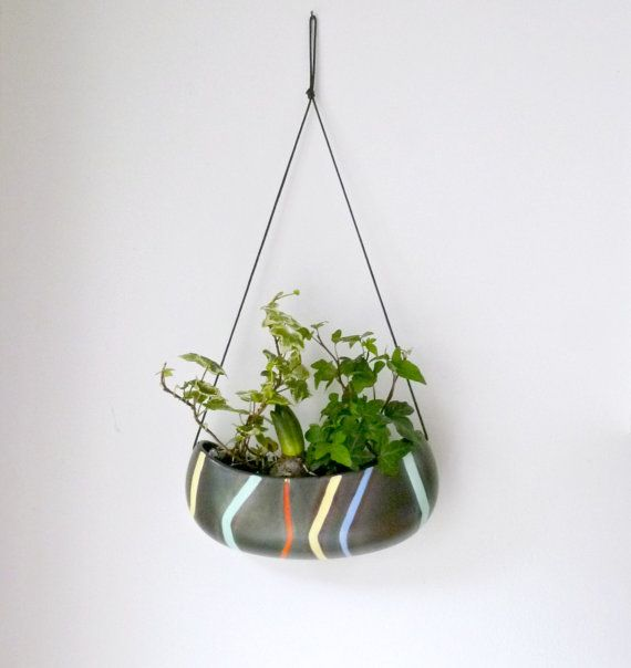 Mid Century Wall Vase Hanging Planter Indoor Garden