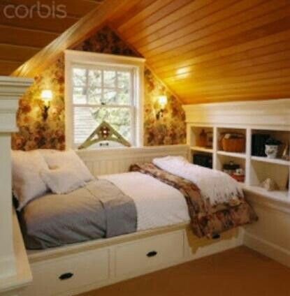 Cozy Attic Room For The Home Pinterest