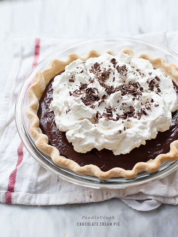 Chocolate Cream Pie via Lauren's Latest | foodiecrush.com