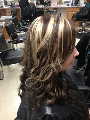 Love tge blonde chunky highlights | Hair Colors/Styles | Pinterest