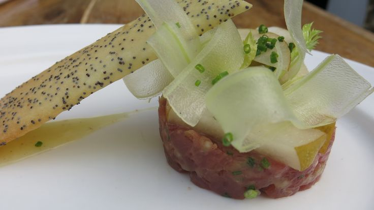Ahi Tuna Tartare, diced tuna, five-spice cured lemon, celery, Asian ...