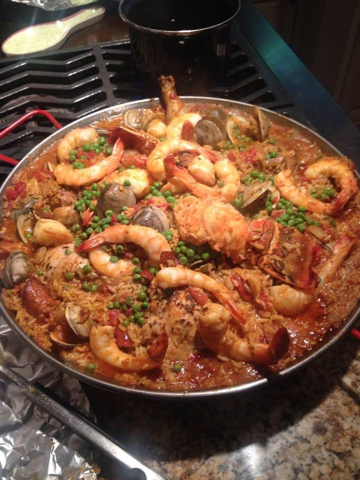 ... , Chicken and Chorizo Paella | SHRIMP AND SCALLOP RECIPES | Pi