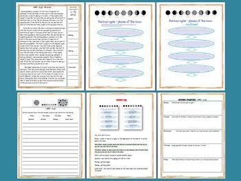 MOON PHASES SCIENCE AND LITERACY LESSON SET - TeachersPayTeachers.com