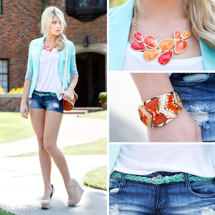 Check out Mint Julip Look by Love Tree and Machine at DailyLook. Love these colors together!