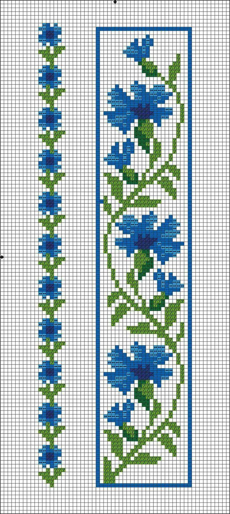 Василёк вышивка крестом схема 2