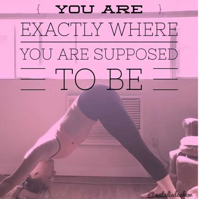 fitness yoga motivational quote because what you say