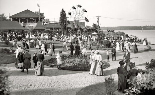 Kingston Point c. 1900 (Ulster County Historical Society).