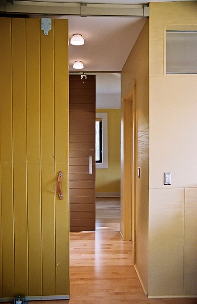 Architectural elements sliding barn doors via remodelista for Barn door interior doors