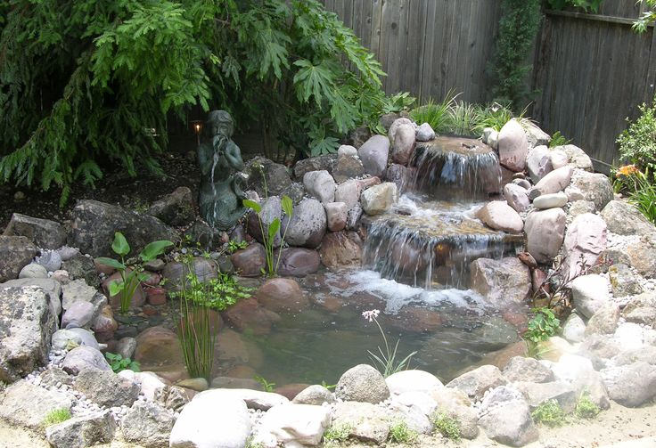 Diy Backyard Pond With Boulders Green Thumb Pinterest