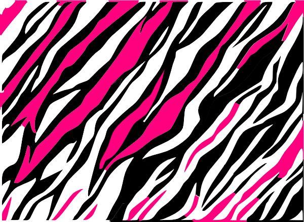 Pink glitter zebra background