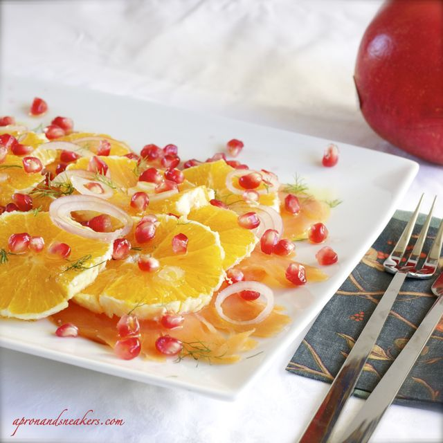 ... cooking amp traveling in italy salmon orange amp pomegranate salad