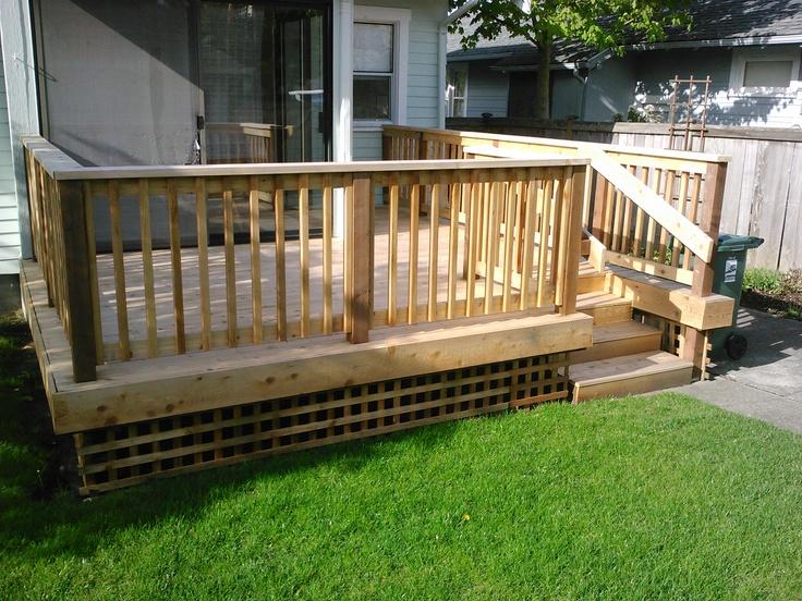great outdoor deck  Outside Ideas  Pinterest