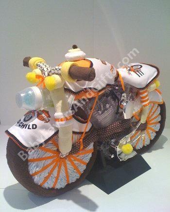 harley davidson baby shower harley davidson motorcycle diaper cake