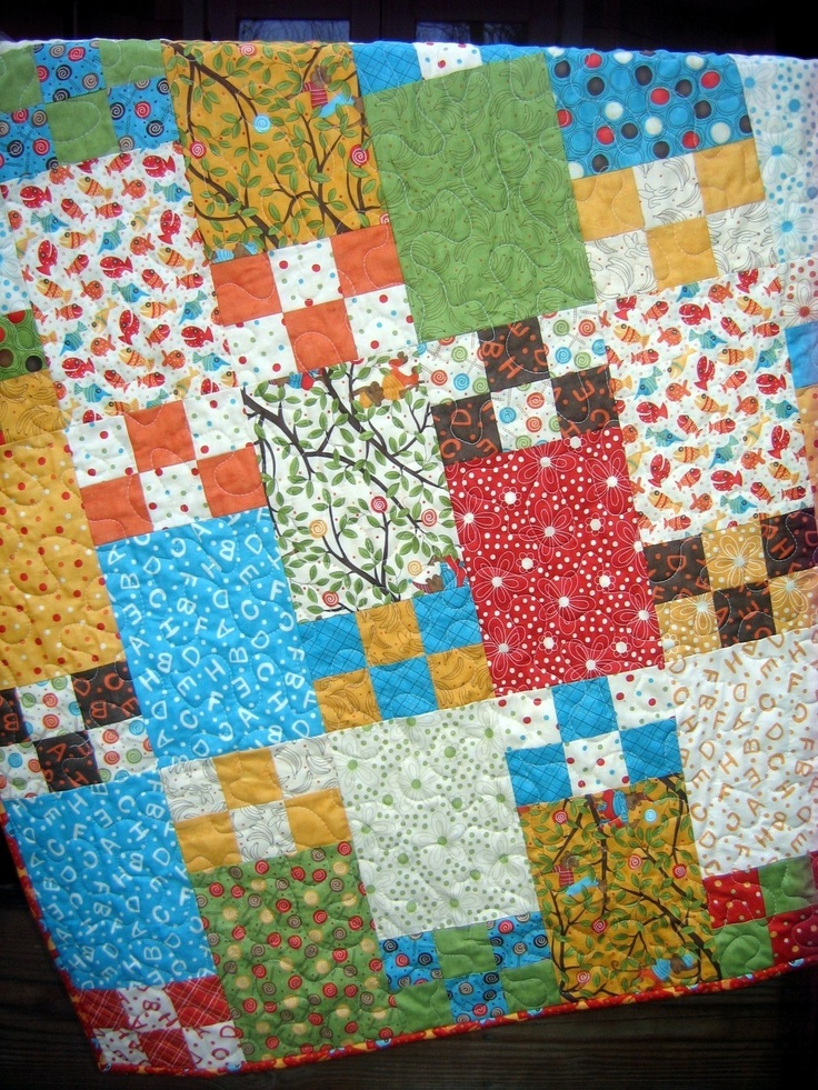 Quilt Pattern For 9 Fat Quarters : QUILT PATTERN.... 5 sizes, baby to king, Fat Quarter pattern, Life is?