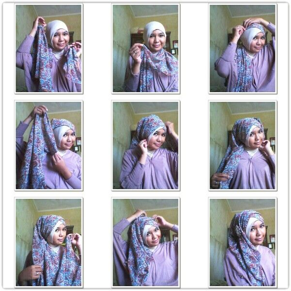 Pashmina style | hijab_tutorial | Pinterest