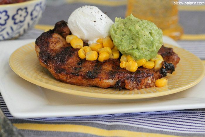 Taco Style Grilled Pork Chops Recipe — Dishmaps