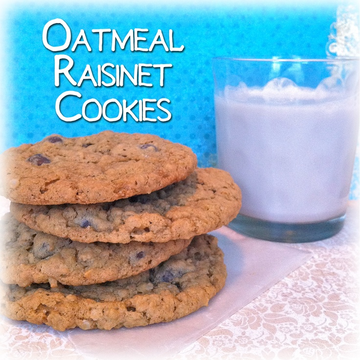 Oatmeal Dark Chocolate Raisinet Cookies